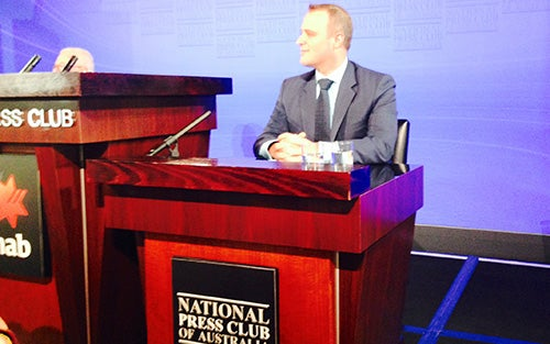 Human Rights Commissioner Tim Wilson at the National Press Club of Australia