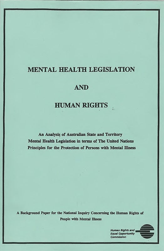 Cover - 1992 Mental Illness and Human Rights