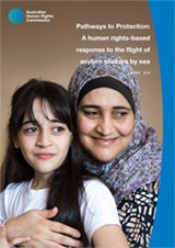 Pathways to Protection: A human rights-based response to the flight of asylum seekers by sea report 2016 cover image