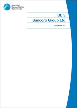Cover of BE v Suncorp (2018)