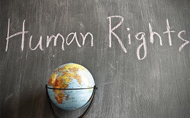 Human Rights - and world globe