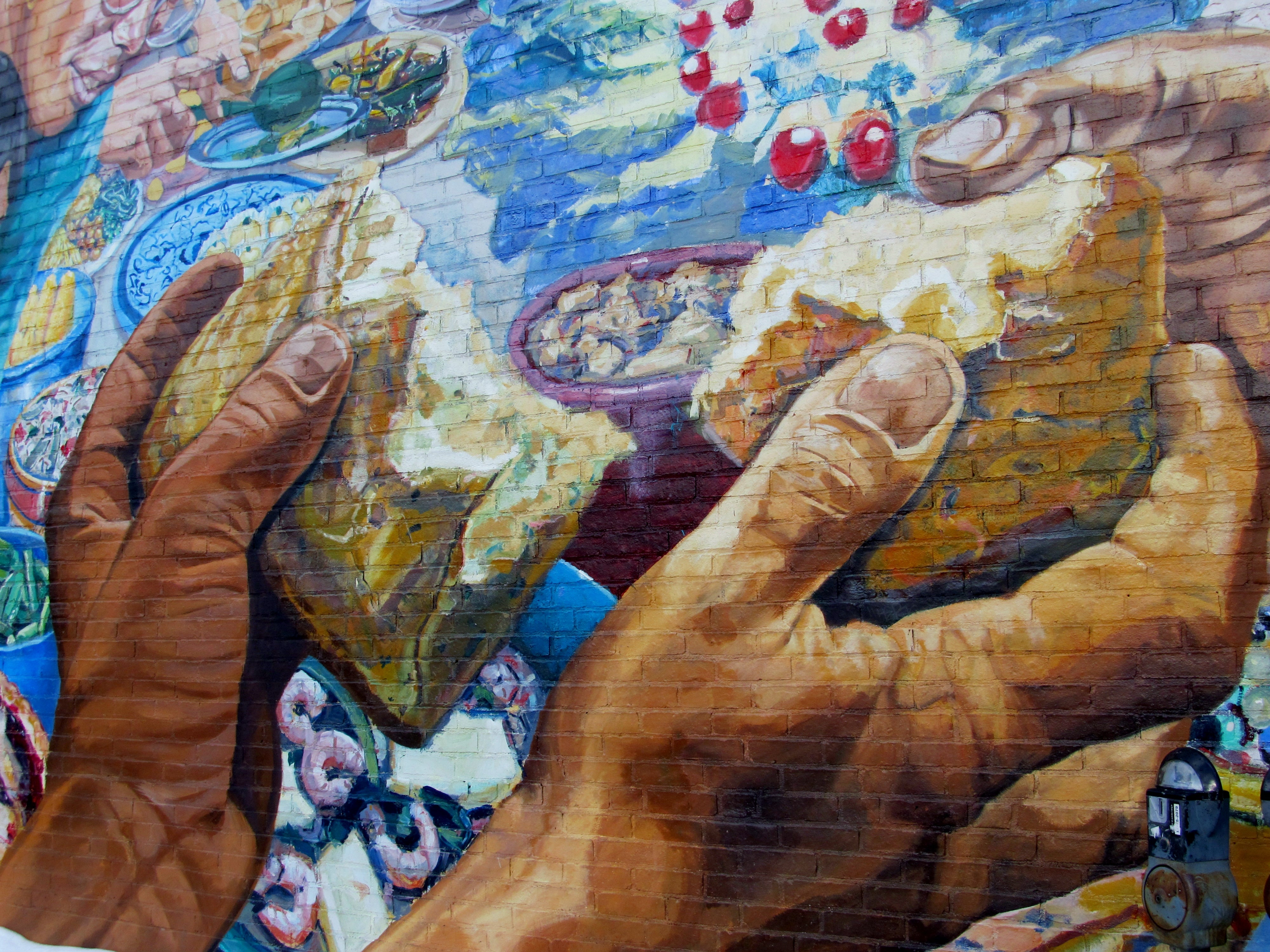 Breaking Bread - Mural by David Fitcher, Photo by Lorianne di Sabato