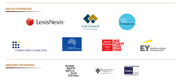 Thanks to our sponsors for the Human Rights Awards 2016