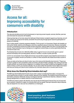 Cover of Access For All factsheet