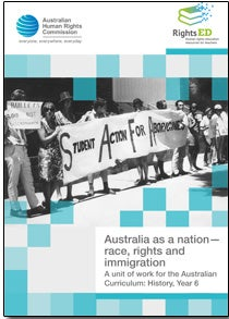 Cover of Australia as a nation – race, rights and immigration
