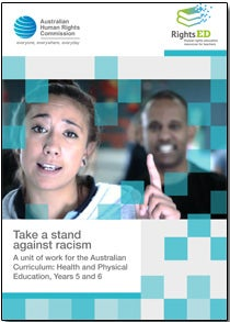 RightsEd cover - Race: Take a stand against racism. Year 5 - 6