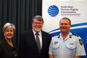 Commission President Gillian Triggs, Mr Harry Jenkins MP, Mark Ney, Australian Federal Police