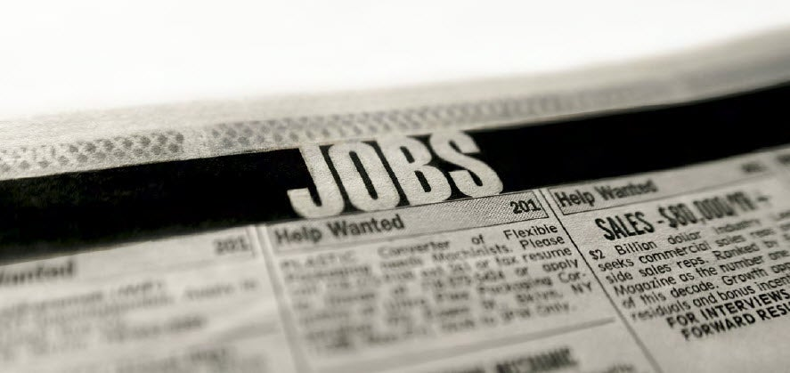 Stock image of Jobs page in newspaper