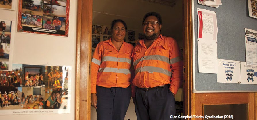 Aboriginal workers in an office