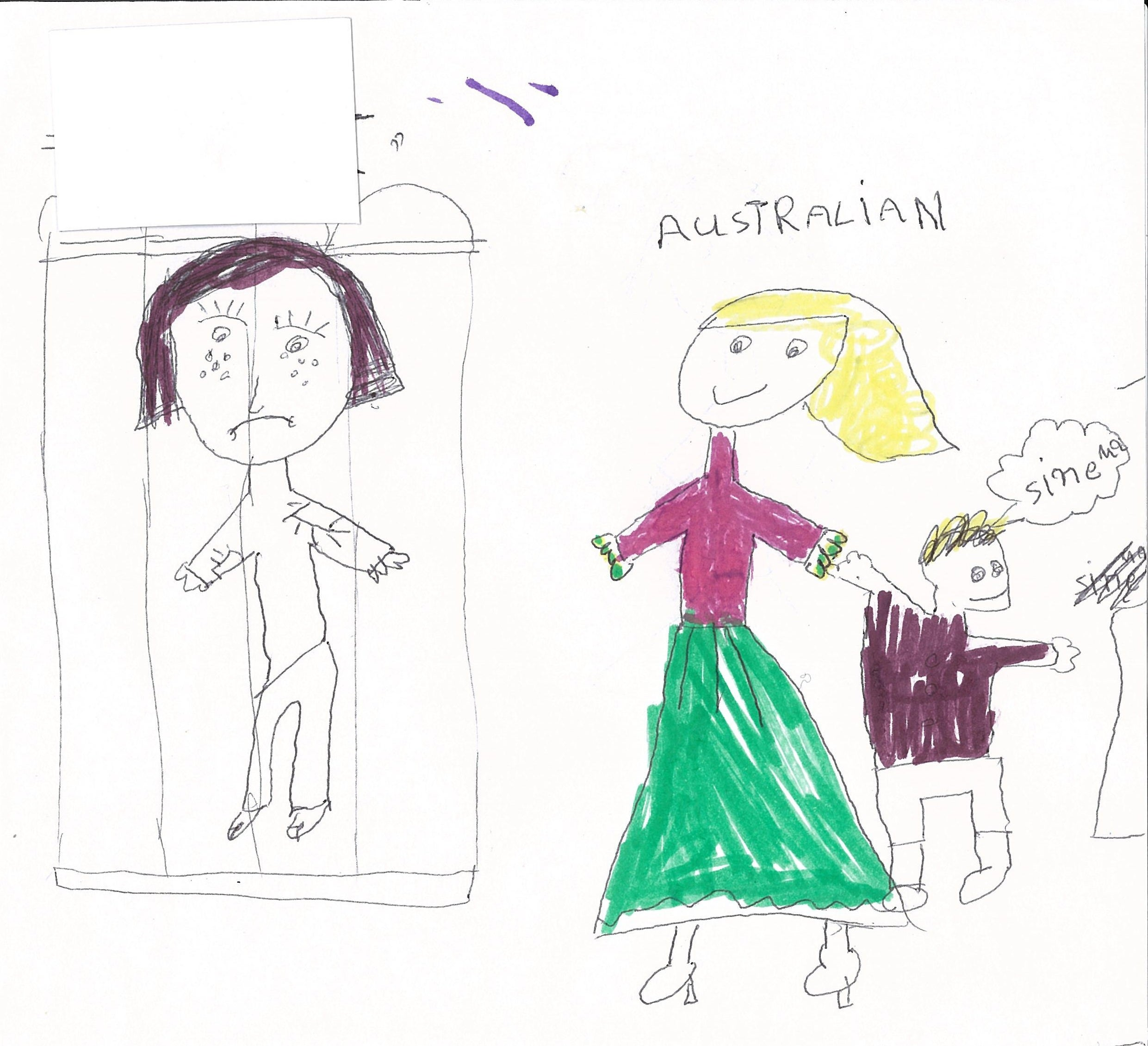drawing of children drawings by children in immigration detention australian 6562