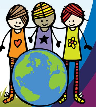 Cartoon image of kids around the world