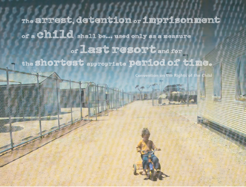Image of child in immigration detention