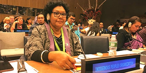 Commissioner June Oscar at the United Nations