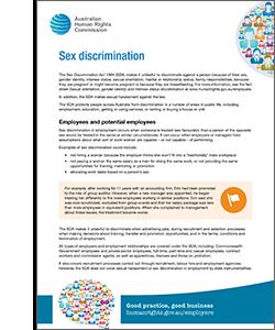 Sex discrimination act 1984 in australia