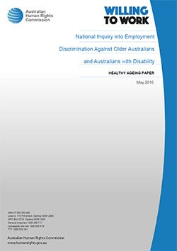 Cover of Healthy Ageing Paper