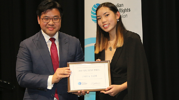 Race Discrimination Commissioner Tim Soutphommasane and Emma Tam