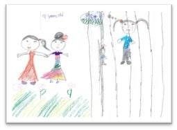 Drawing by 9 year old girl in detention on Christmas Island