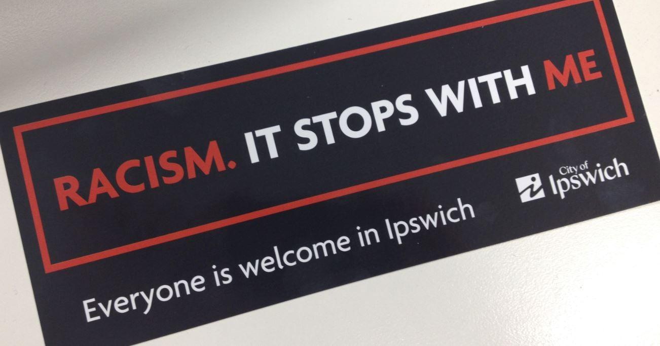 Ipswich CC campaign sticker