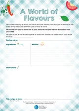 Recipe sheet cover - A world of flavours