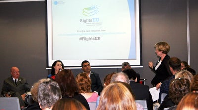 Gillian Triggs speaking at launch of RightsEd, 1 December 2014