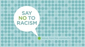 Say no to racism logo
