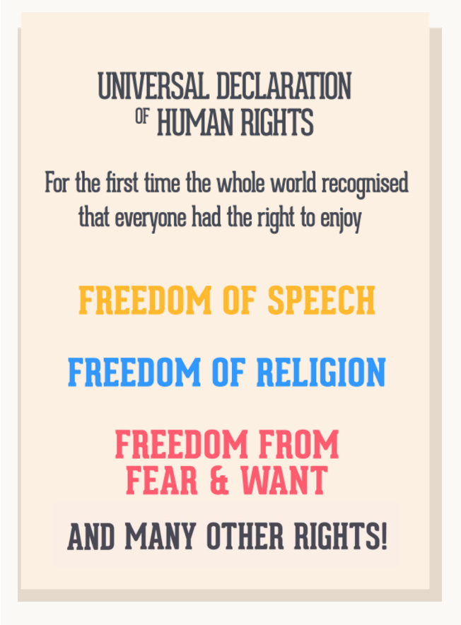 Cartoon version of the Universal Declaration of Human Rights