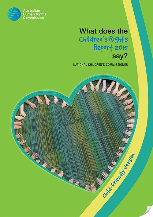 Cover of Child Friendly Report 2015