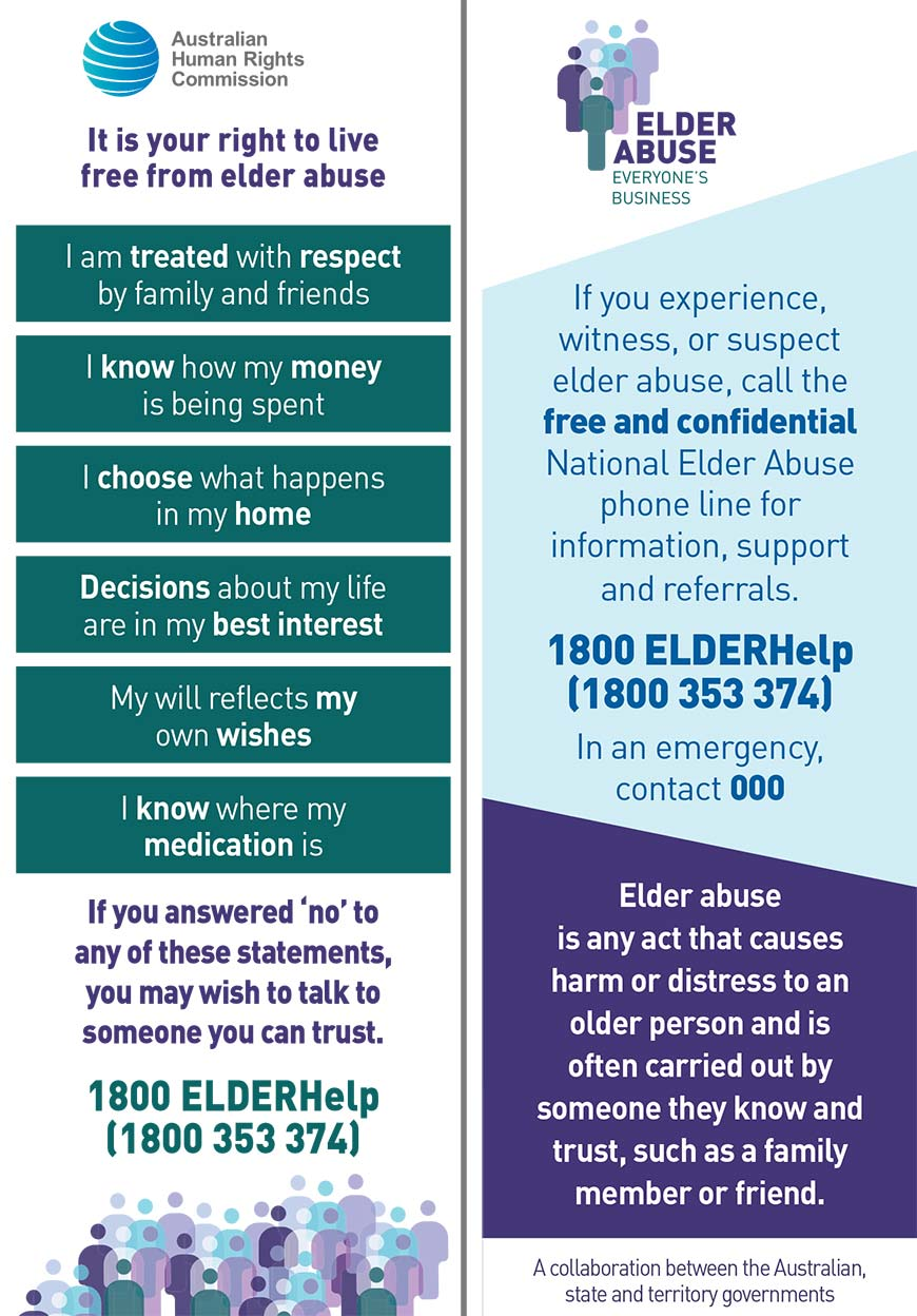 Elder Abuse bookmark