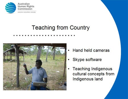 Teaching from Country. Hand held cameras
