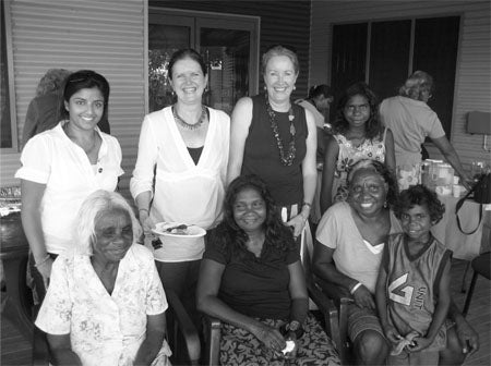 Photo of Commissioner at the Fitzroy Crossing Community Consultation