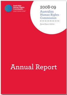 Australian Human Rights Commission Annual Report 2008-2009 cover