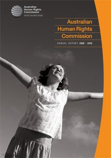 Australian Human Rights Commission Annual Report 2009-2010 cover
