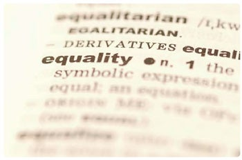 equality - dictionary close up