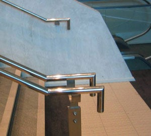 Incorrect handrail end