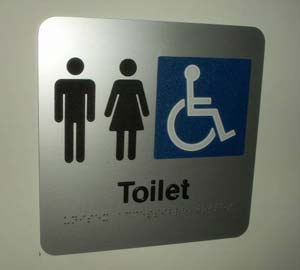 Clear toilet signage