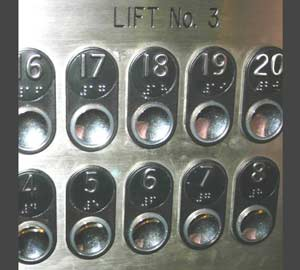 Correct lift buttons