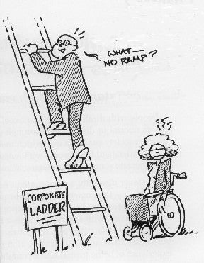 "corporate ladder ""What, no ramp?"""