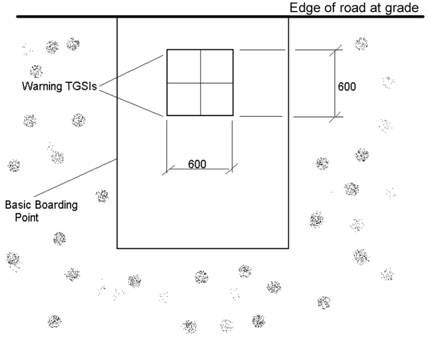 Example of TGSI installation for a bus stop in an area with