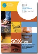 Sex Files: the legal recognition. Concluding paper cover