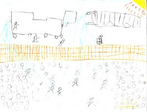 Drawing provided by a child at baxter IDF and given to Commission staff during visit.