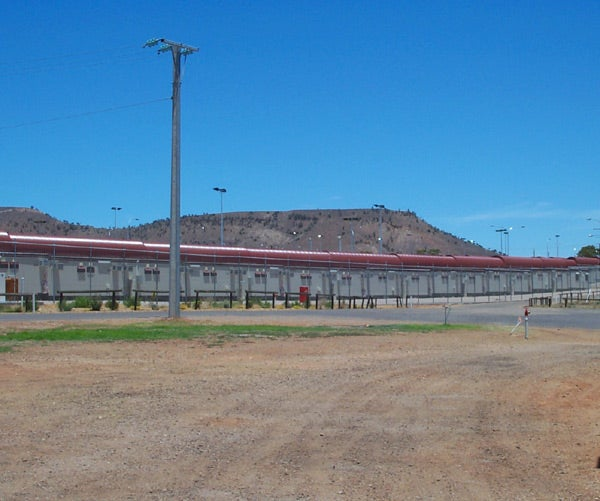 Exterior view of Baxter Immigration Detention Facility, December 2002.