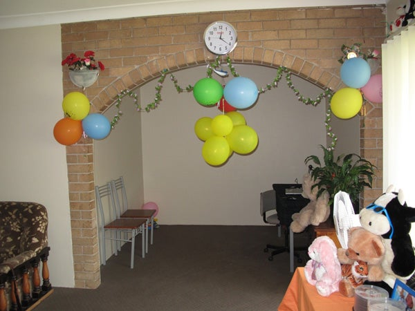 Flat occupied by family in community detention.