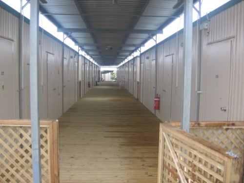 Photo of the construction camp immigration detention facility, internal view