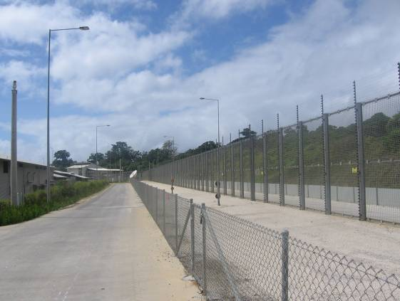 Photo of Christmas Island IDC external fences