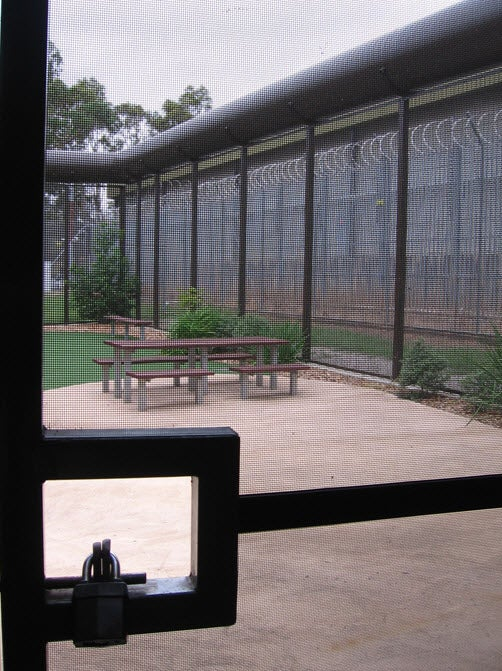 Access to outdoor courtyard, Blaxland compound, Villawood IDC