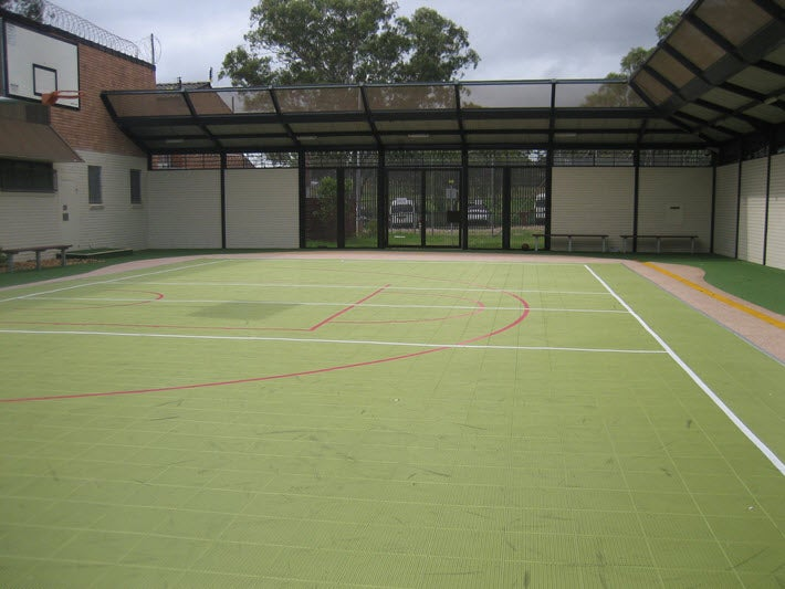 Refurbished basketball court, Blaxland compound, Villawood IDC
