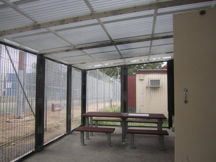 Enclosed courtyard, Blaxland compound, Villawood IDC