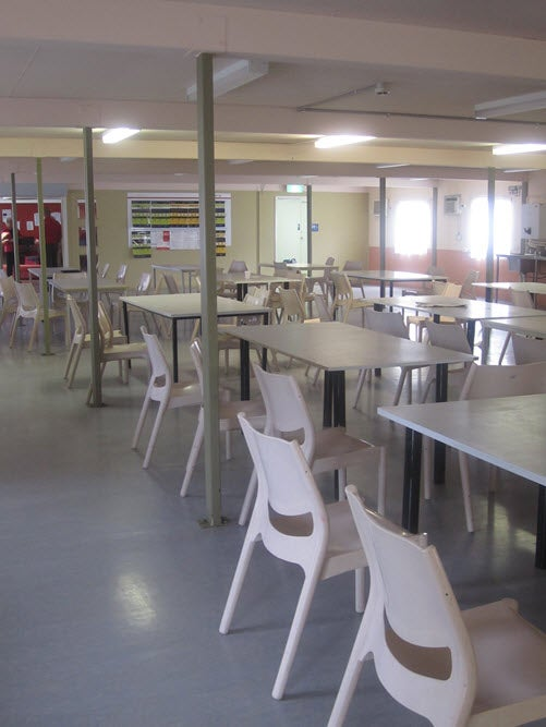 Dining room for Hughes compound, Villawood IDC