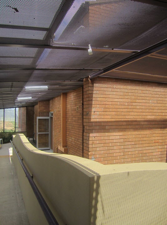 Enclosed outdoor area, downstairs, Murray Unit, Villawood IDC