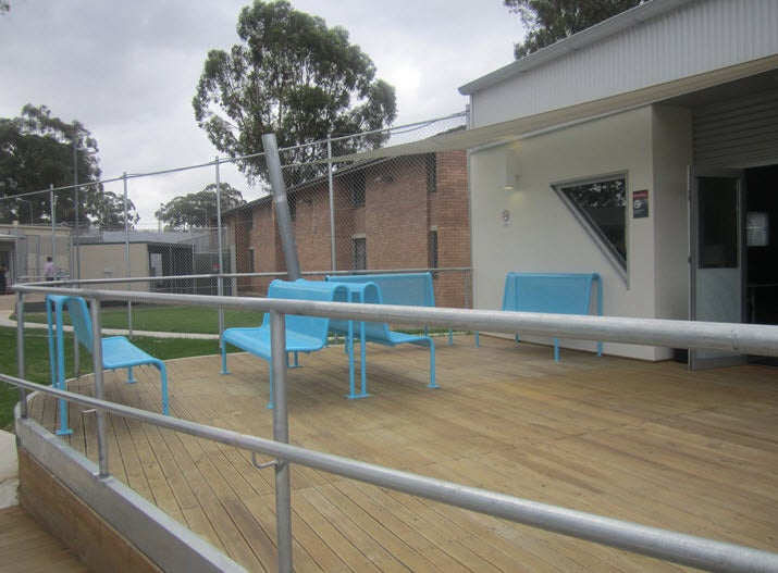 New building in visitors' area for Hughes and Fowler compounds, Villawood IDC